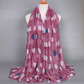 Ericdress Flower Print Voile Scarf
