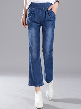 Ericdress Simple Flared Jeans