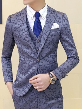 Ericdress Camouflage Slim Three-Piece of Men's Suit