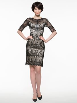 Ericdress Beautiful Sheath Lace Knee Length Mother Of The Bride Dress