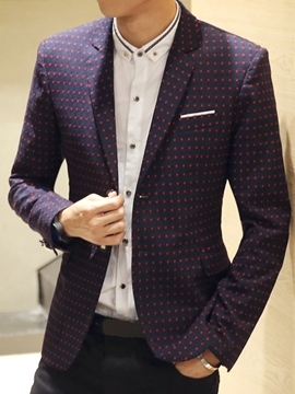Ericdress Polka Dots Vogue Elegant Slim Men's Blazer