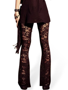 Ericdress See Through Lace Leggings Pants