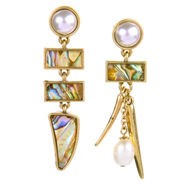 Ericdress Asymmetric Geometry Earrings