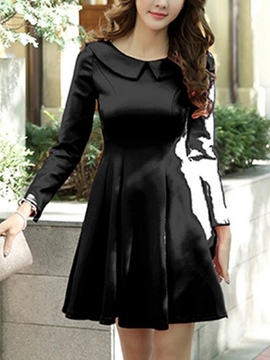 Ericdress Sweetheart Peter Pan Collar Skater Casual Dress