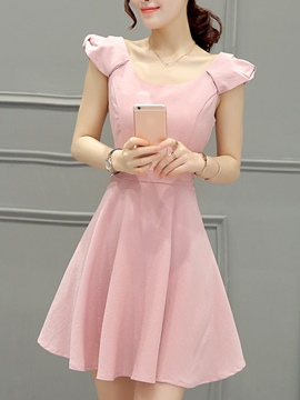 Ericdress A-Line Ladylike Skater Casual Dress