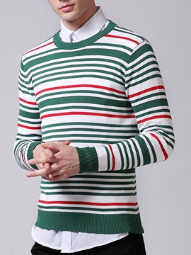 Ericdress Stripe Pullover Vogue Men's Sweater