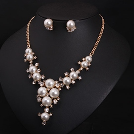 Ericdress All Matched Pearls Jewelry Set