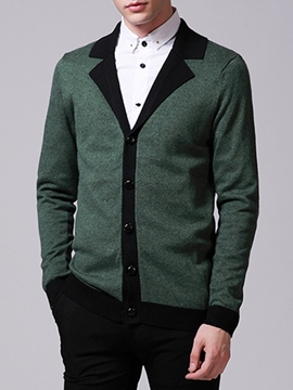 Ericdress Lapel Cardigan Vogue Men's Sweater