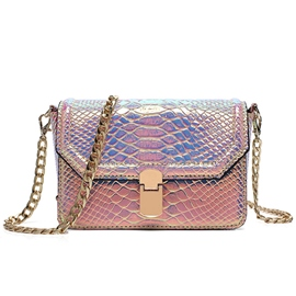 Ericdress Laser Gradient Serpentine Crossbody Bag