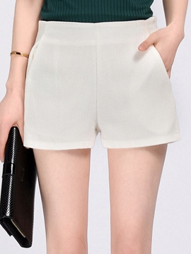 Ericdress Solid Color Straight Shorts