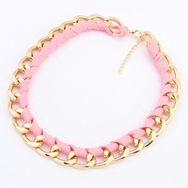 Ericdress Fluorescent Color Chain Necklace