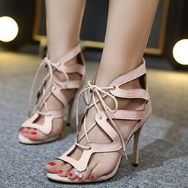 Ericdress Sexy Roman Lace up Stiletto Sandals