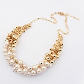 Ericdress Elegant Pearls Inlaid Necklace