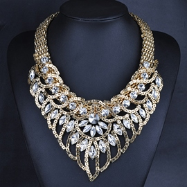 Ericdress Alloy Diamante Necklace for Women