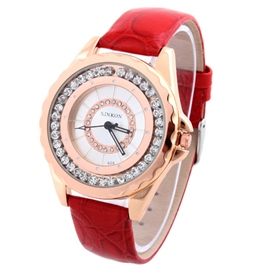 Ericdress Gear Scale Quicksand Diamante Watch