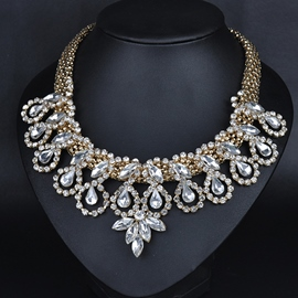 Ericdress Exaggerated Alloy Diamante Necklace
