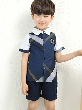 Ericdress Preppy Stripe Boys Outfit