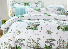 Ericdress Simple Woods Scenery Print Cotton Bedding Sets