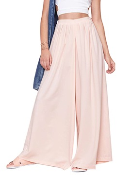 Ericdress Solid Color Casual Culottes