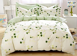 Ericdress Green Leaves Print Cotton Bedding Sets