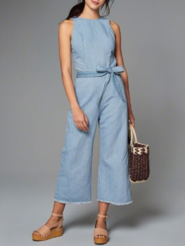 Ericdress Loose Bowknot Jumpsuits Pants