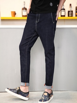 Ericdress Straight Slim Vogue Denim Men's Pants