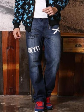 Ericdress Plus Size Embroidery Casual Men's Pants