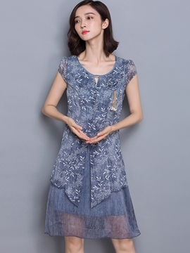 Ericdress Chiffon Loose Casual Dress
