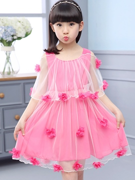 Ericdress Yarn shawl Appliques Falbala Girls Dresses