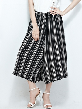 Ericdress Simple Stripe Culottes