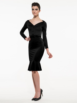 Ericdress Mermaid V-Neck Sheath Dress