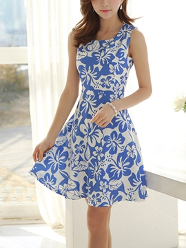 Ericdress Summer A-Line Print Casual Dress