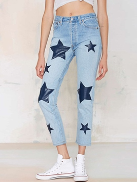 Ericdress Star Pattern Jeans