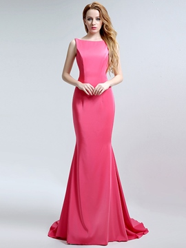 Ericdress Bateau Mermaid Backless Court Train Evening Dress