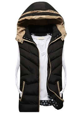 Ericdress Zip Thicken Vogue Warm Men's Vest