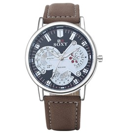 Ericdress Casual Stainless Steel Dial Men's Watch
