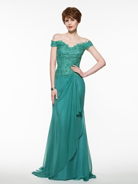 Ericdress Elegant Off The Shoulder Sheath Long Mother Of The Bride Dress