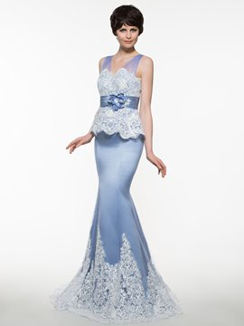 Ericdress Beautiful V Neck Appliques Mermaid Mother Of The Bride Dress