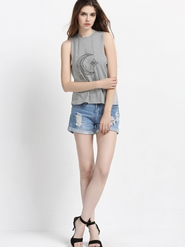 Ericdress Casual Printed Vest