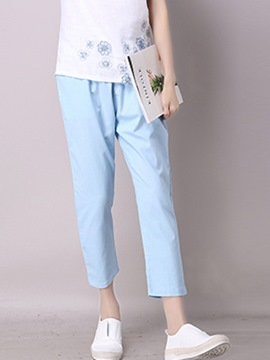 Ericdress Straight Nine Points Casual Pants
