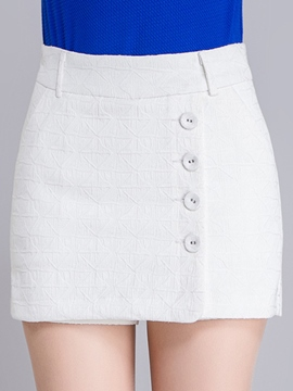 Ericdress Button Decoration Casual Shorts