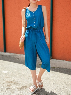 Ericdress Simple Solid Color Jumpsuits Pants