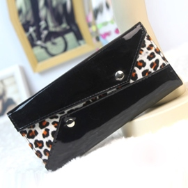 Ericdress Korean Leopard Patent Leather Purse