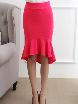 Ericdress Solid Color Mermaid Usual Skirt