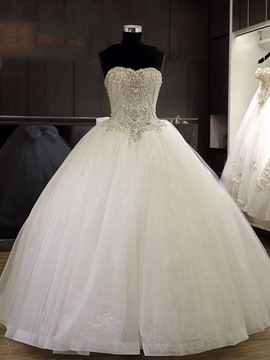 Ericdress Luxury Beaded Sweetheart Ball Gown Wedding Dress