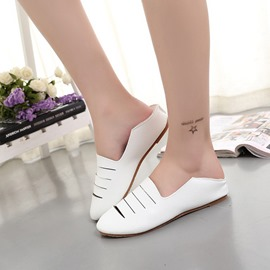 Ericdress Delicate White Cut Out Flats