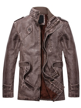 Ericdress Vogue Casual PU Men's Jacket