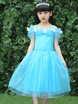 Ericdress Pleated Mesh Princess Dress