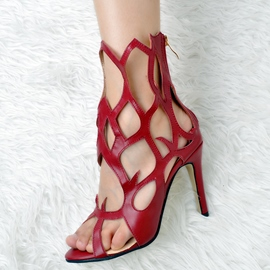Ericdress Charming Peep Toe Cutout Stiletto Sandals