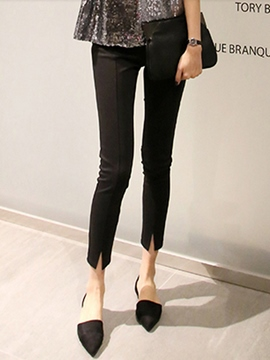 Ericdress Nine Points Slit Casual Pants